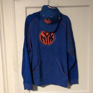 New York Knick's hoodie & ball cap